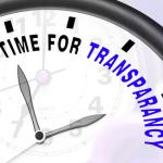 Le temps de la transparence est venu